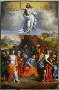 Ascension of Christ - Benvenuto Tisi (about 1515)