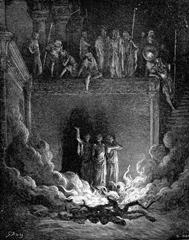 Shadrach, Meshach, and Abednego in the fiery furnace - Unknown Artist