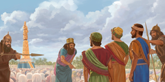 Shadrach, Meshach, and Abednego refuse to bow down to King Nebuchadnezzar's image of gold - Jehovah Witness Library