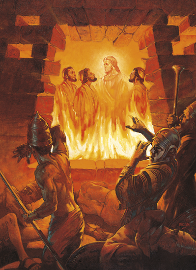 Three Men in the Fiery Furnace (Shadrach, Meshach, and Abednego in the Fiery Furnace) - William Maughan