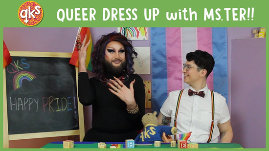 Video frame from YouTube's children channel Queer Kid Stuff