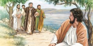 Jesus preaches in Galilee - Unknown artist
