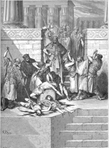 The slaying of Zedekiah's sons