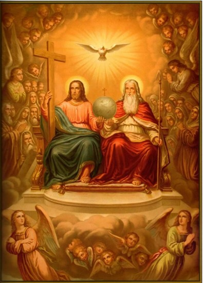 Jesus on the right-hand side of God - artist unknown
