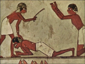 Punishment in Ancient Egypt - Wall painting (1,500 BC)