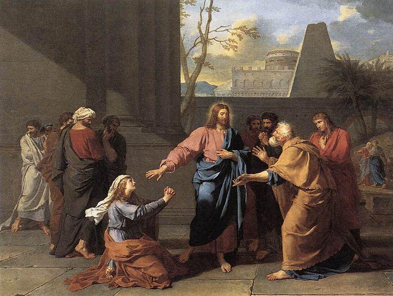 Woman of Canaan at Feet of Christ - Jean-Germain Drouais (1784)