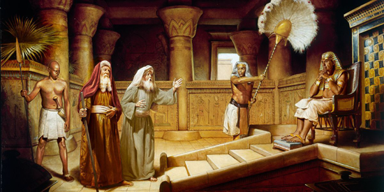 Moses and Aaron appear before Pharaoh - Unknown Artist