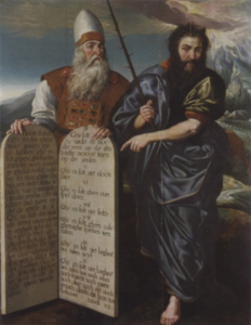 Moses and Aaron with Tablets of the Law - Marten de Vos Flemish (1532-1603)
