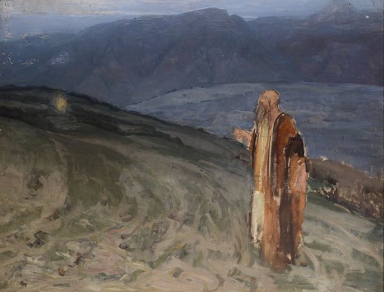 Moses and the burning bush - Henry Ossawa Tanner