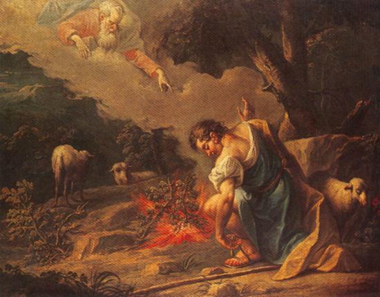Moses and the burning bush - Jean Baptiste van Loo (1684-1745)