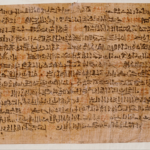 Ancient Egyptian Ipuwer Papyrus
