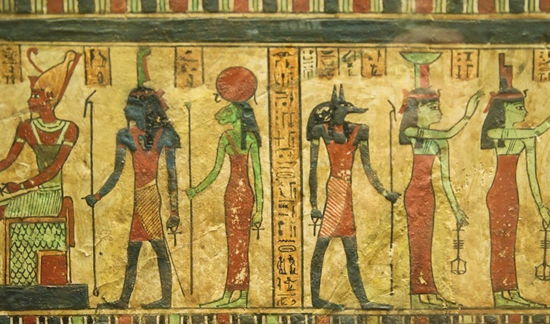 Egyptian gods and hieroglyphics