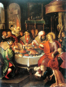 Feast in the house of Simon (Jesus eating) - Frans Francken the Younger (1630)