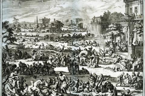 God brings a plague of boils upon Egypt demonstrating God controls everything, including humans' destiny (Exodus 9:8 – 9:12).