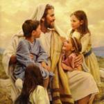 Jesus with the little children - Artist Unknown
