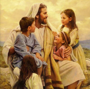 Jesus with the little children - Artist Unknown