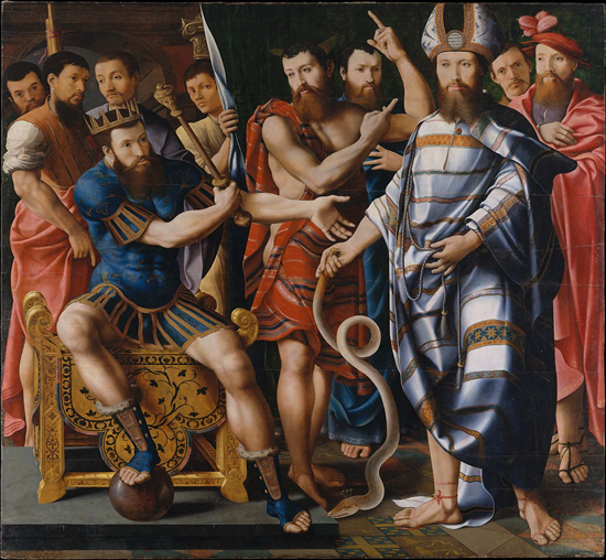 Moses and Aaron before Pharaoh - Master of the Dinteville Allegory (1537)