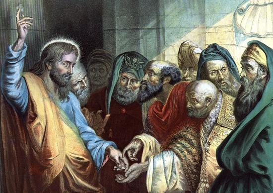 Render under Caesar (Jesus pays taxes) - Peter Paul Rubens (Abt. 1640)