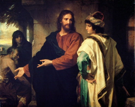 Christ and the rich young ruler - Heinrich Hofmann (1889)