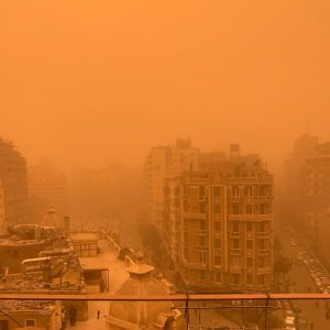 Sandstorm in Cairo, Egypt