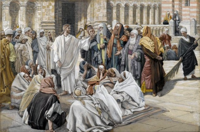 The Pharisees question Jesus - James Tissot (1886)