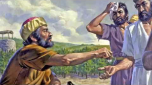 Parable of the workers in the vineyard - employer paying workers