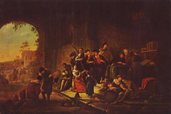 Parable of the workers in the vineyard - Jacob Willemsz de Wet (1675)