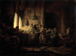 Parable of the workers in the vineyard - Rembrandt (1637)