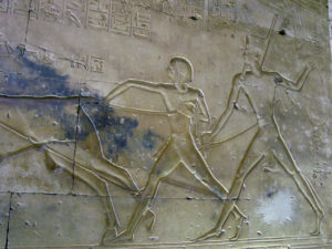 Relief prince Amun-her-khepeshef Ramesses II (right) from Temple of Abydo