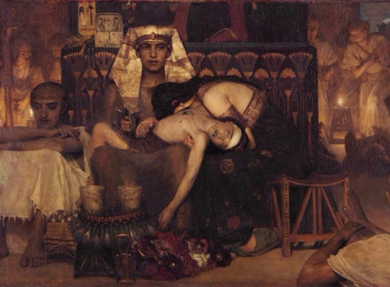 Death of the Pharaoh Firstborn son - Lawrence Alma-Tadema (1872)