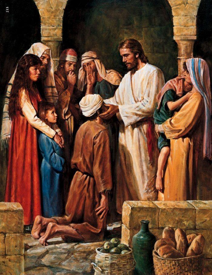 Christ Healing a Blind Man - Del Parson
