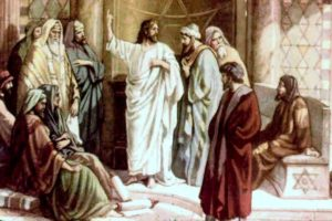 Jesus' authority is questioned - Artist unknown
