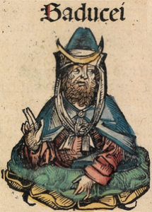 A Sadducee, illustrated in the 15th-century Nuremberg Chronicle