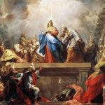 Apostles receive the Holy Spirit