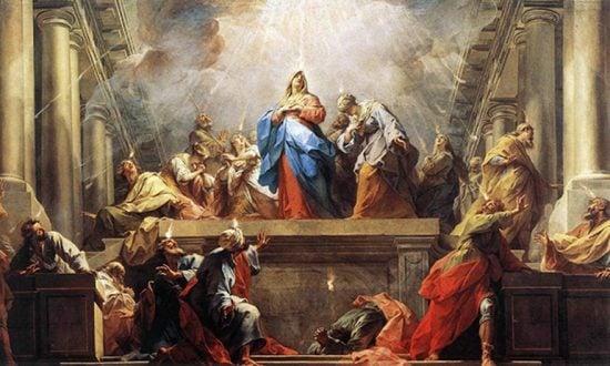 Apostles receive the Holy Spirit