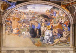 Crossing of the Red Sea - by Agnolo di Cosimo (Bronzino)