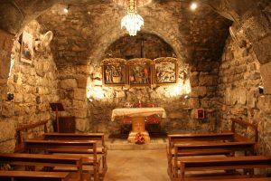 Inside of an early Christian church - Saint Ananias Church