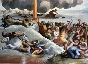 Moses Crossing The Red Sea - by Raphael (1483-1520)