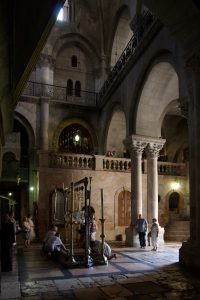 Stone of Anointing (Jesus' body said to have been anointed here) - Church of the Holy Sepulchre