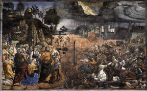 The Crossing of the Red Sea Fresco by Cosimo Rosselli and Domenico Ghirlandaio