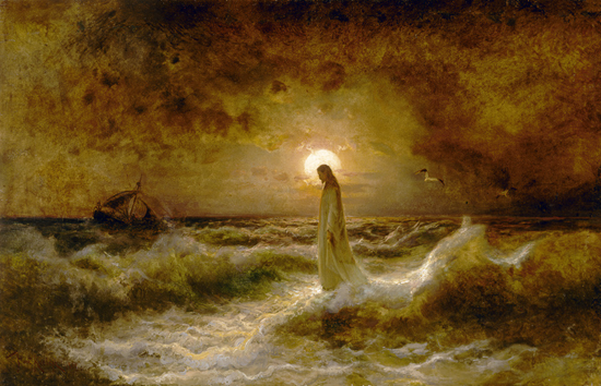 Christ Walking on Water - Julius Sergius Klever (1880)