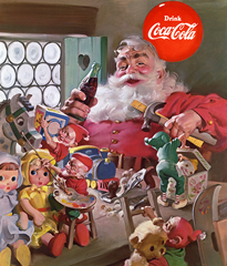 Coca Cola advertisement that commercializes Christmas