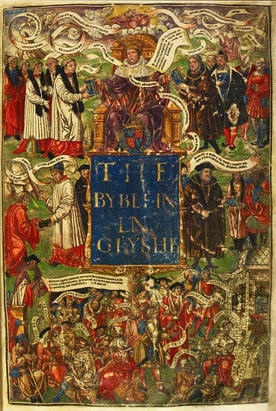 Cover of The Great Bible - 1539