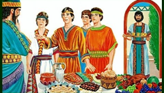 Daniel and his companions refuse King Nebuchadzennar's food