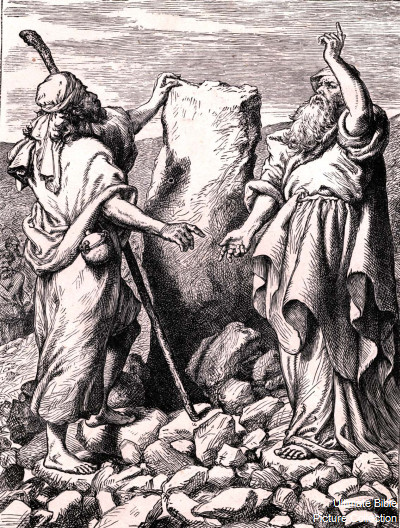 Laban pursues Jacob and his family – covenant marks the ...