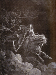 Gustave Doré -The fourth horseman, Death on the Pale Horse (1865)