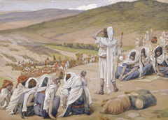 Jacob Sees Esau Coming to Meet Him (watercolor circa 1896–1902 by James Tissot)