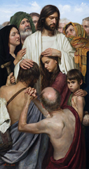Christ Heals The Multitude by Jeff Hein