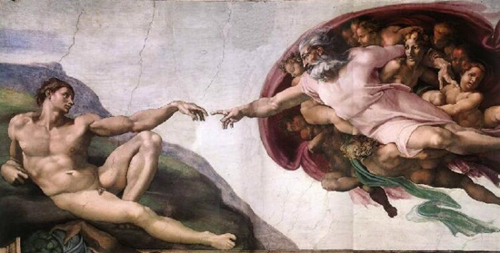 The Creation of Adam by Michelangelo, c.1512