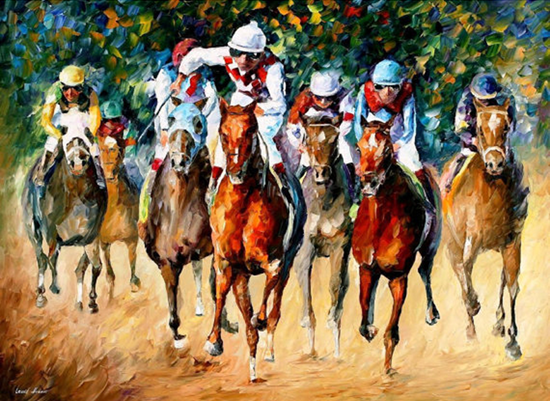 Horse racing - artist unknown